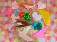 Origami making in English